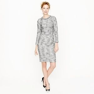 J. CREW LONG SLEEVE SALT & PEPPER TWEED DRESS 6
